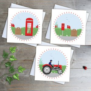 Country Reds Greeting Card Collection