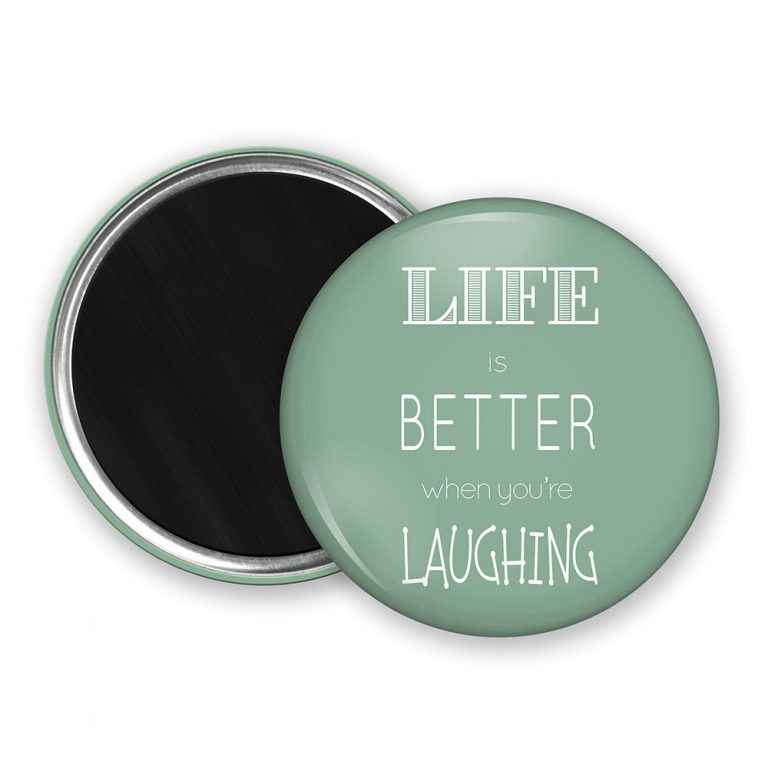 Life Is Better Quote Fridge Magnet