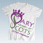 Mary Queen of Scots Festival logo design by graphic desinger Deborh Dey