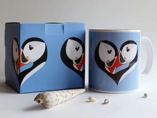 Boxed Puffin Mugs
