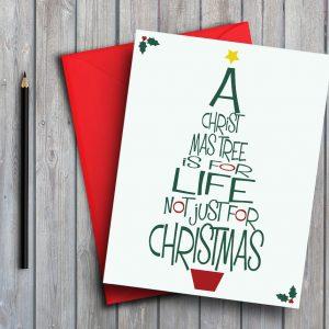 Christmas Typography Tree
