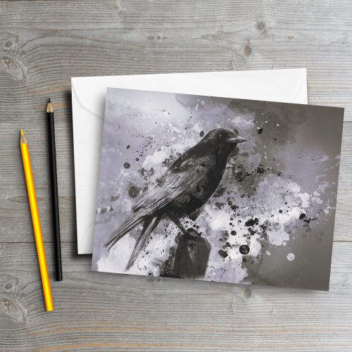 crow-greeting-card