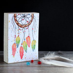 Dreamcatcher #1 print wood block