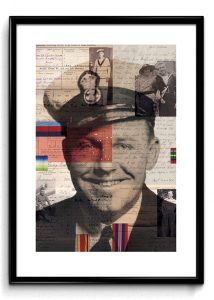 Digital collage. Grandad My Hero