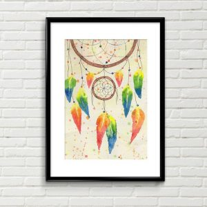 Original Dreamcatcher watercolour