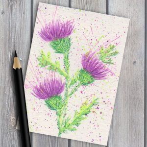 Scottish Thistles print ACEO