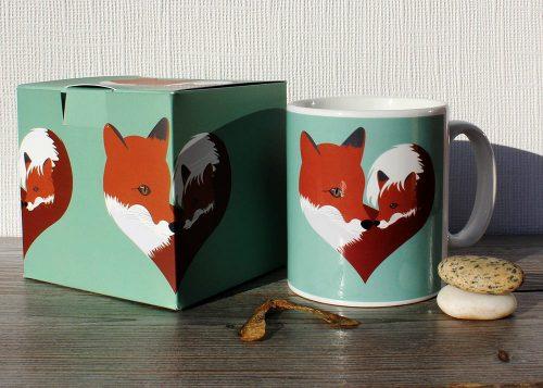 Fox mug gift box
