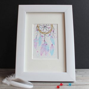 Dreamcatcher #3 ACEO original watercolour