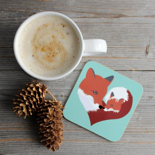 fox drink coaster