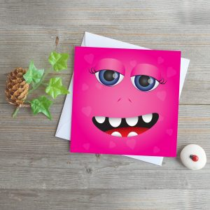 Pink Monster Love Greeting Card