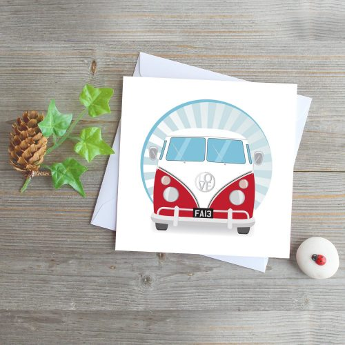 campervan greeting card