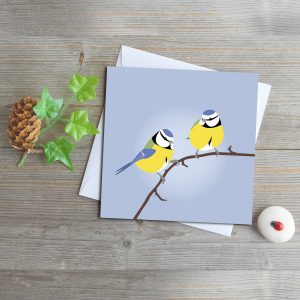 Blue Tits Greeting Card