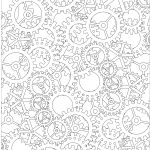 cogs colouring page