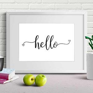 hello typography printable