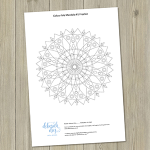 colour me mandala #1 freebie