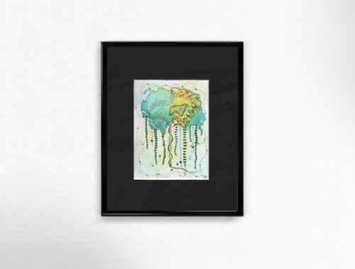watercolour abstract#2 framed
