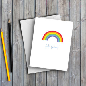 Rainbow Hi There Card
