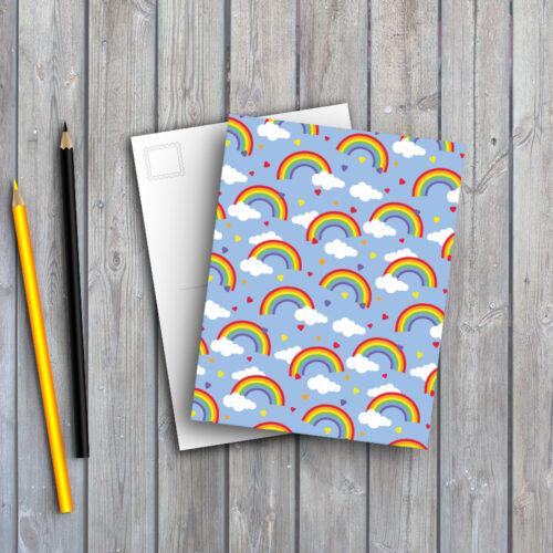 rainbows of hope postcard