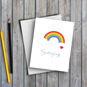 Rainbow Sending Hugs Card