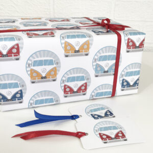 Retro Campervan Wrapping Paper, recyclable