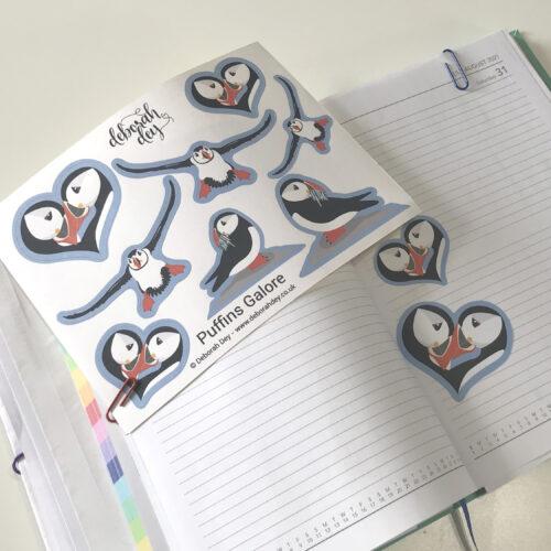 puffin sticker sheet