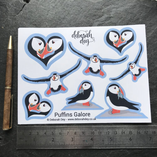 puffin stickers for planners