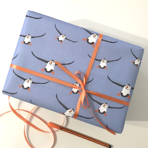 puffin-wrapping-paper